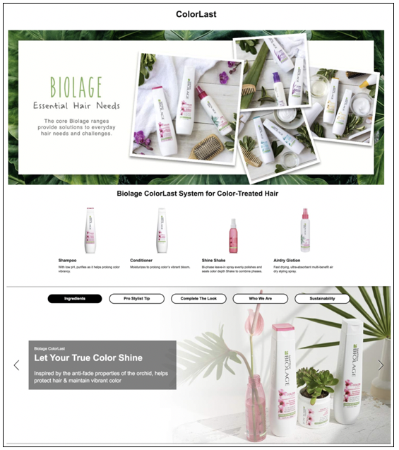 Biolage Enhanced Brand Content