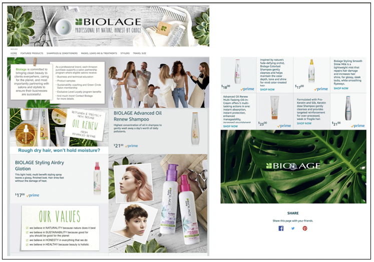 Biolage eCommerce Store